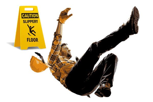 Guy slipping and falling