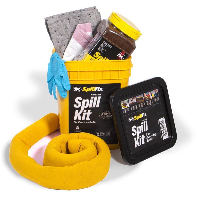 SpillFix 4gal Spill Kit in Quick Response Refillable Bucket
