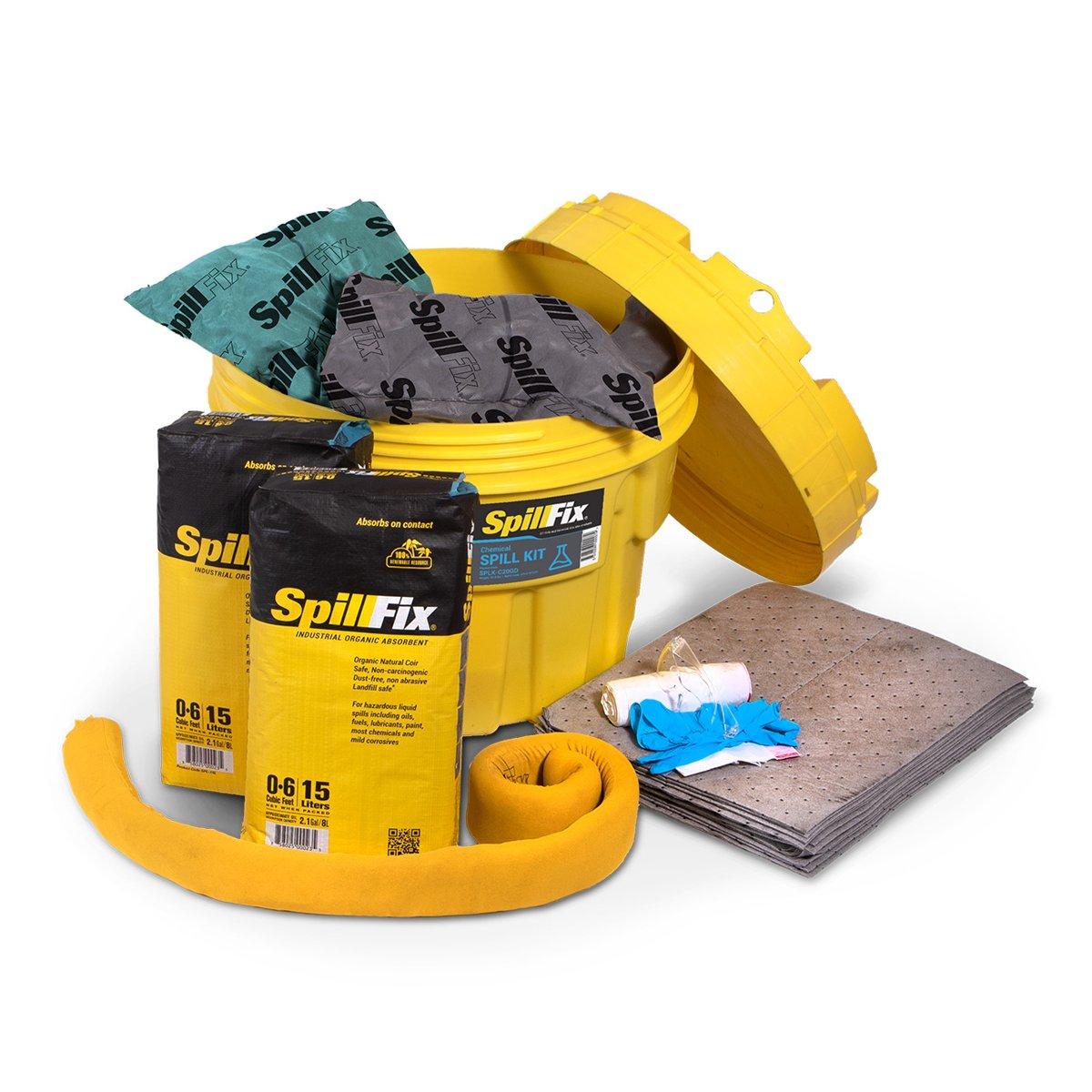 SpillFix HazMat Spill Kit in 20 Gallon Overpack Salvage Drum