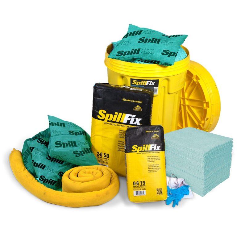 SpillFix HazMat Spill Kit in 30 Gallon Overpack Salvage Drum