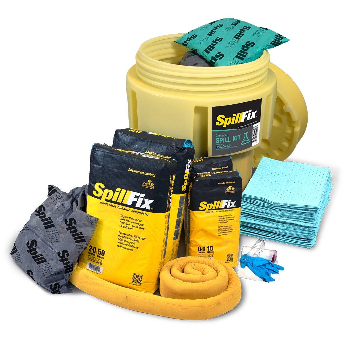 SpillFix HazMat Spill Kit in 65 Gallon Overpack Salvage Drum