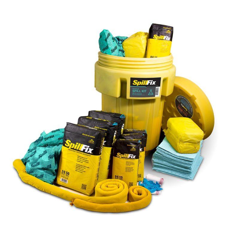 SpillFix HazMat Spill Kit in 95 Gallon Wheeled Overpack Salvage Drum