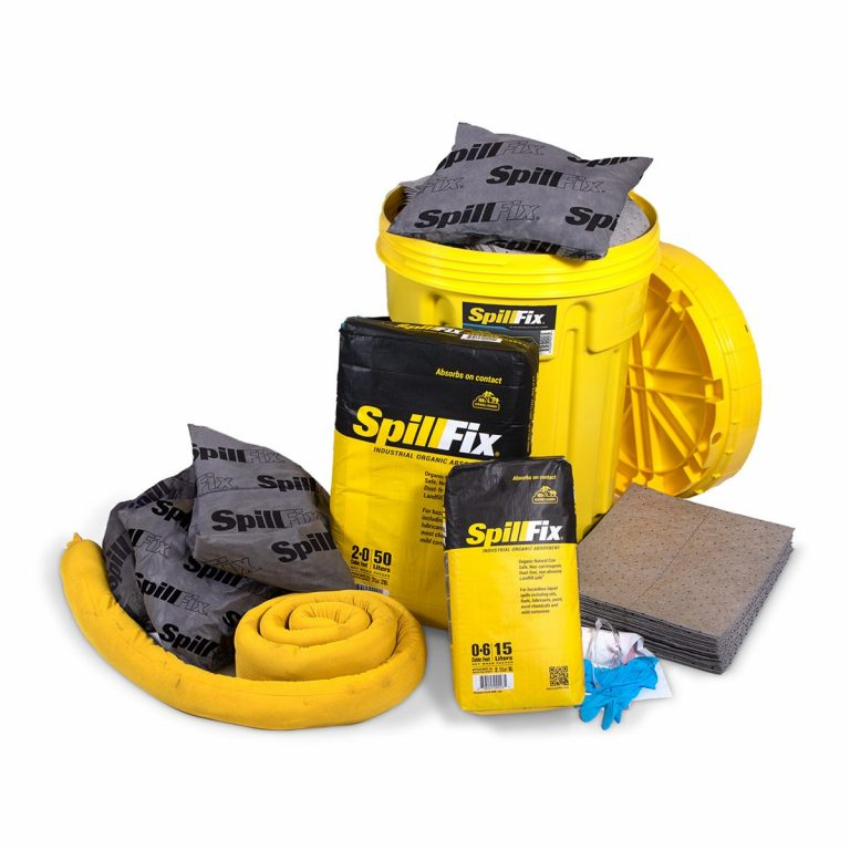 SpillFix Oil-Only Spill Kit in 30 Gallon Overpack Salvage Drum