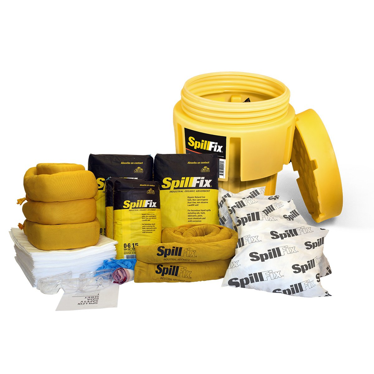 SpillFix Oil-Only Spill Kit in 65 Gallon Overpack Salvage Drum