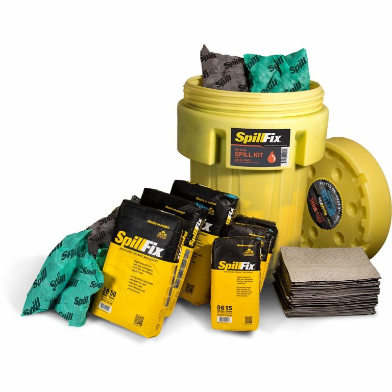SpillFix Oil-Only Spill Kit in 95 Gallon Overpack Salvage Drum