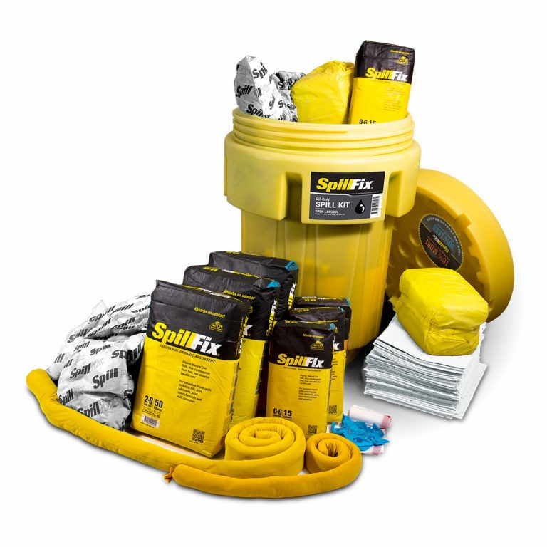 SpillFix Oil-Only Spill Kit in 95 Gallon Wheeled Overpack Salvage Drum