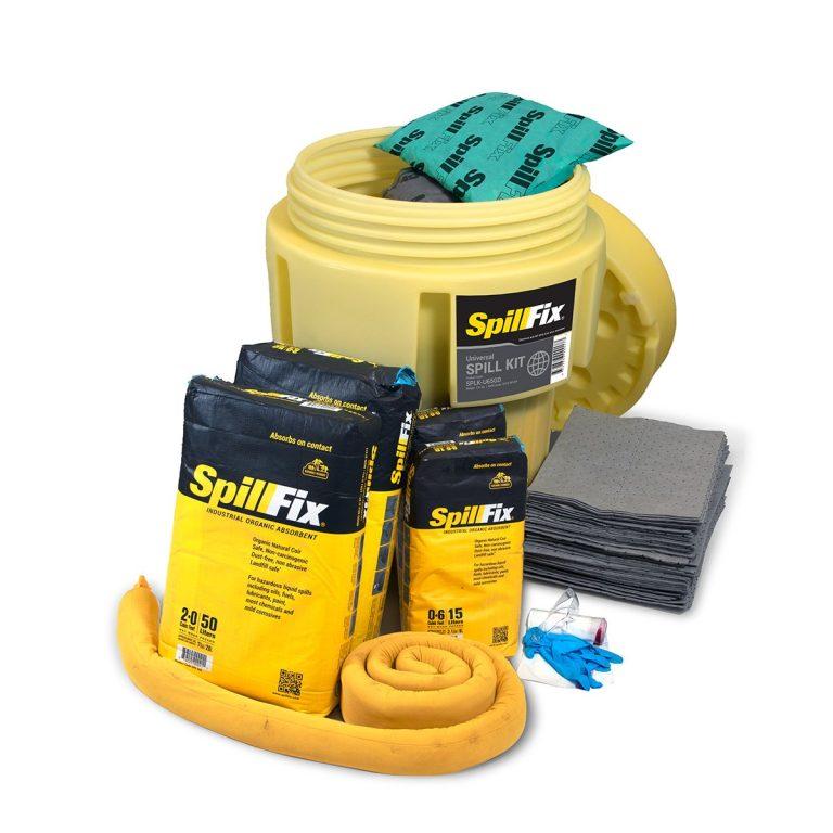 SpillFix Universal Spill Kit in 65 Gallon Overpack Salvage Drum