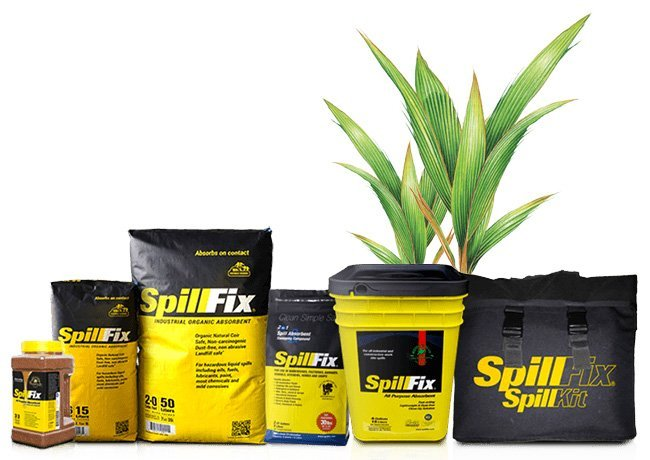 SpillFix is the only natural spill cleanup solution